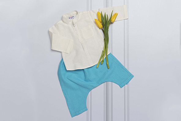 Azad baby shirt with flower