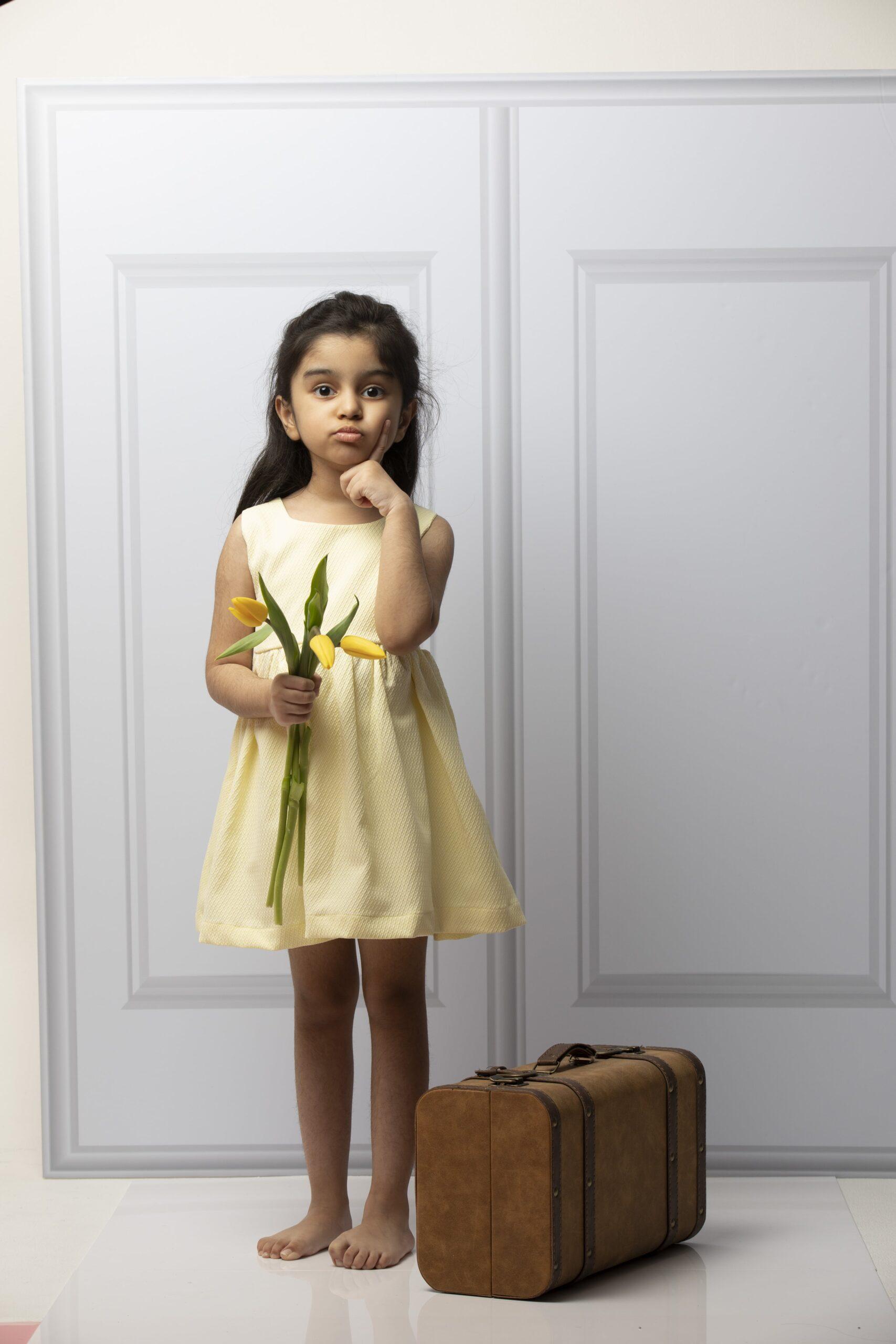 Bella Dress jacquard yellow